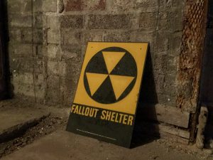 The Fallout Shelter sign